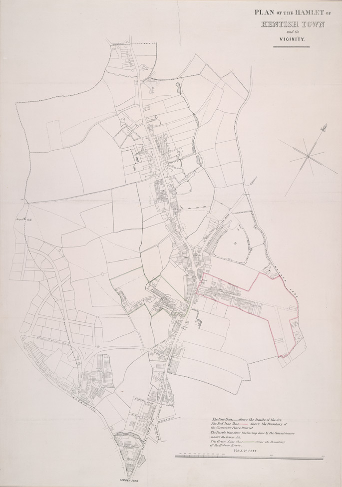 Plan of the hamlet of Kentish Town and its vicinity